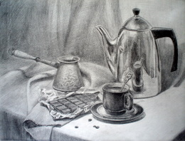 drawing, watercolor, Chocolate, chocolate, teapot, mug, turk