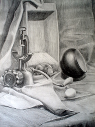 drawing, watercolor, Mincer, grinder, a pot, a trough